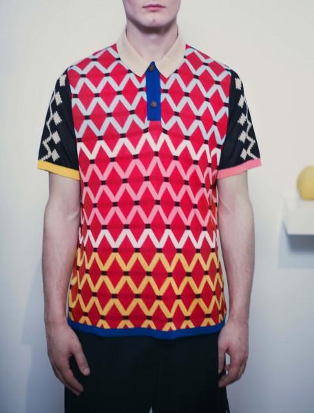 Maxhosa Africa Short Sleeve Golf Shirt Red