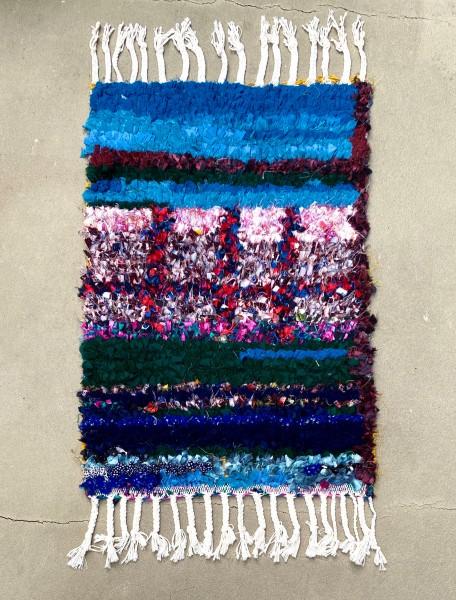 Boucharouite Rug Small Jewel Tones