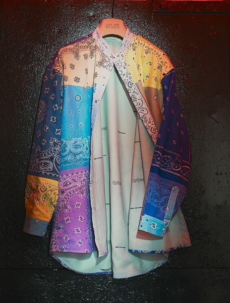 Vintage Bandana Patchwork Shirt Multi